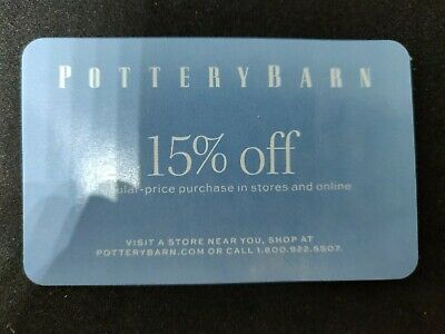 POTTERY BARN Coupon 15% Off Entire Regular-price Purchase Exp 10/31/19