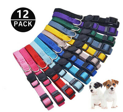 12 Pcs/Set Whelping Puppy Pet Dog ID Identification Bands Litter Kitten Collar