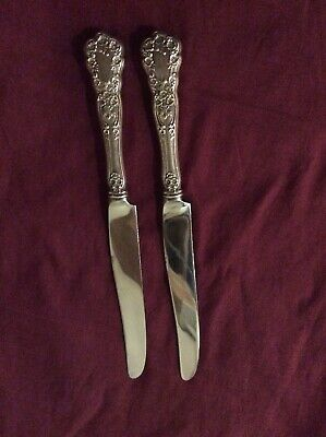 "Pair of GORHAM BUTTERCUP Sterling Silver Dinner Knives, 9 1/2"", French Blades"