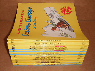 Lot of 29 Curious George Books by H.A. Rey, Margret Rey Paperback 8 x 8