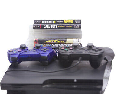 Sony Playstation 3 PS3 150GB Super Slim System - 2 Controllers / 8 games