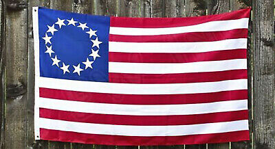 13 Star Colonial Flag American US Colonies Betsy Ross Retro Red White Blue 3x5