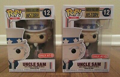 (2) Funko Pop! Icons American History #12 Uncle Sam Target Exclusive Brand New