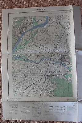 Map France 1/20000 Crest No. 2. Institute Geographical National. 1952