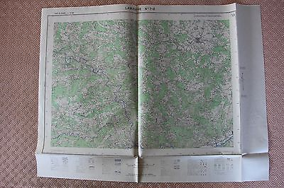 Map France 1/25000 Lamastre No. 7-8. Institute Geographical National. 1957