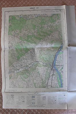 Map France 1/20000 Crest No. 1. Institute Geographical National. 1952
