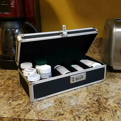 PORTABLE LOCKING FILE Storage Box with Organizer Lid Letter / Legal