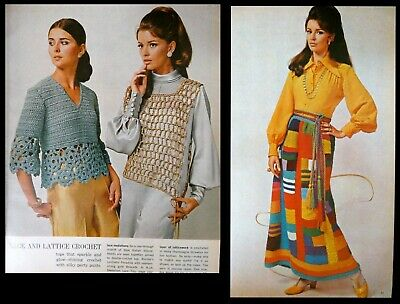 McCall's Needlework Magazine SS 1970 Crochet Clothing Accessories Decor Patterns