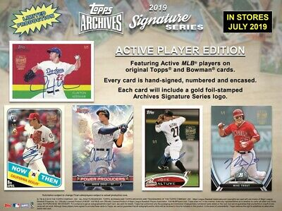 2019 Topps Archives Signature Series Active Player Edition box