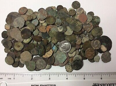 MIXED Lot of (10) Ancient UNCLEANED/SEMI-CLEANED Coins Approx 150BC-600AD