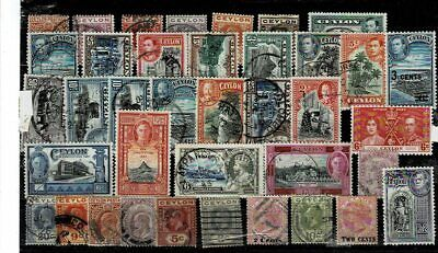 10731- Ceylon ,  British Colonies, collection of stamps. All different.