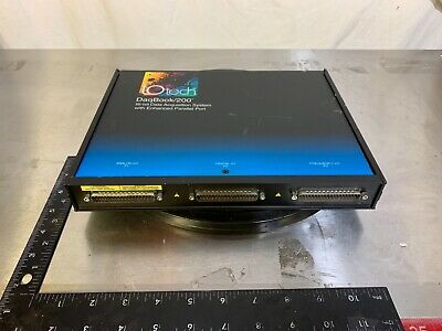 I/O Tech Daqbook/200 16-Bit Data Acquisition System With Enhanced Parallel Port