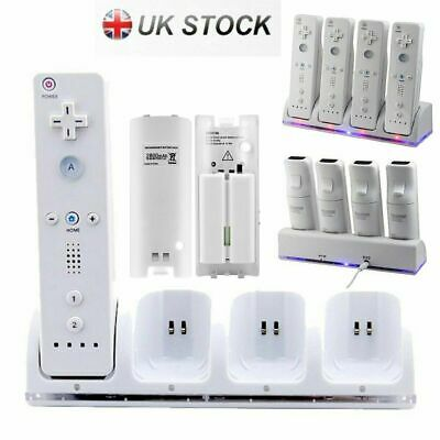 4x Rechargeable Batteries For Wii Remote Controller & Charger Dock Station SMTH