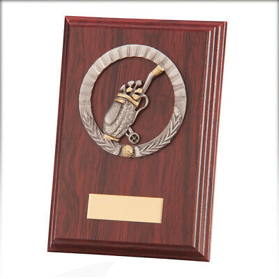 Galway Golf Plaque Mahogany 150mm FREE Engraving
