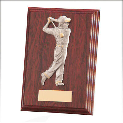 Galway Golf Male Plaque Mahogany 150mm FREE Engraving