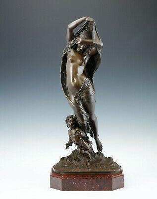 La Nuit Nach James Pradier (1790-1852) around 1850 Rare Bronze Sculpture Paris