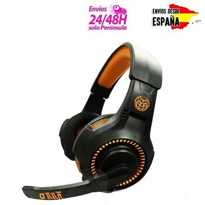 Cascos Gamer Auriculares Gaming Con Led Y Micro Para Juego Ps4 Pc Xbox