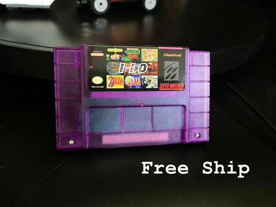 Super 110 In 1 US Game Cartridge Video Games NTSC SNES 16Bit with Battery Save