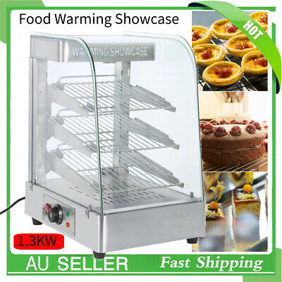 Commercial Food Warmer Cabinet -Stainless Steel Pizza Pie Hot Display Showcase