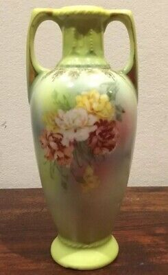 Lovely Antique/vintage Porcelain Handles Vase