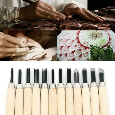 12x Wood Carving Tools Hand Chisel Knife Set Woodworking Gouges Profess KVC