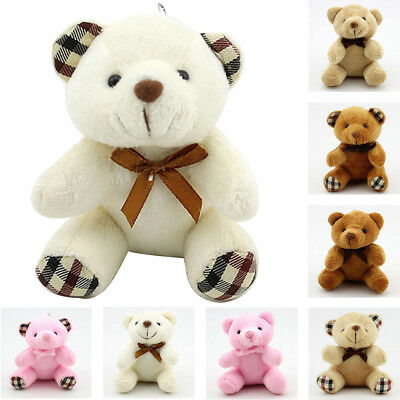 Small Mini Teddy Bear Stuffed Animal Doll Plush Soft Toy Children Kids  #fx