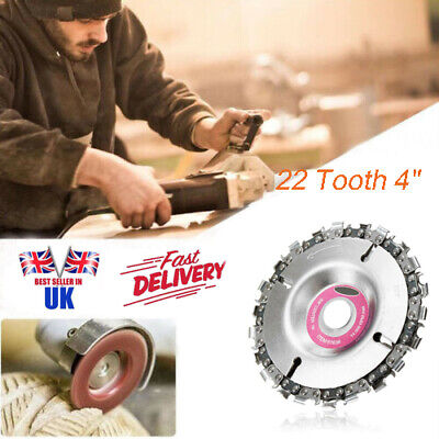 "4"" Angle Grinder Disc and 22 Tooth Chain Saw Blade For Wood Cutting Chainsaw UK"