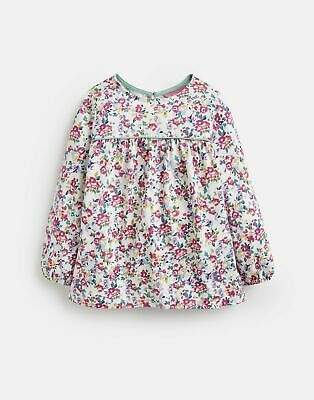 Joules Girls Phoebe Jersey Smock Top 3 12 Years in WHITE DITSY