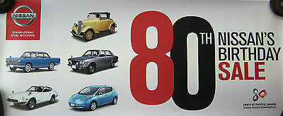 Nissan 80th Birthday Sale Poster **Used - Ex-Dealership**