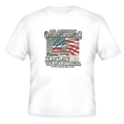 Occupation T-shirt All American Outfitters Iron Worker Building America Flag