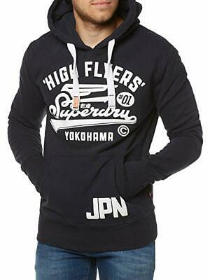 7d7480b0 Superdry Men's High Flyers Hoodie Eclipse Navy M20074PP 98T Size L NEW
