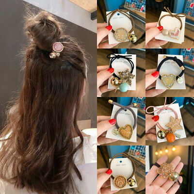 Women Girl's Crystal Hair Ring Rope Band Tie Rubber Ponytail Holder Scrunchies