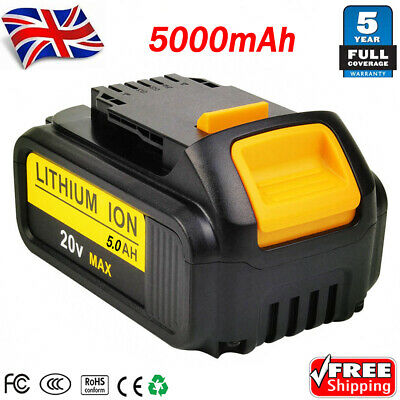 NEW 5000mAh for DEWALT DCB184 18V 5 AH XR LI-ION SLIDE BATTERY DCB182 Cordlesss