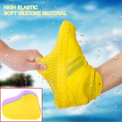 Silicone Overshoes Rain Waterproof Shoe Covers Reusable Boot Cover Protector New