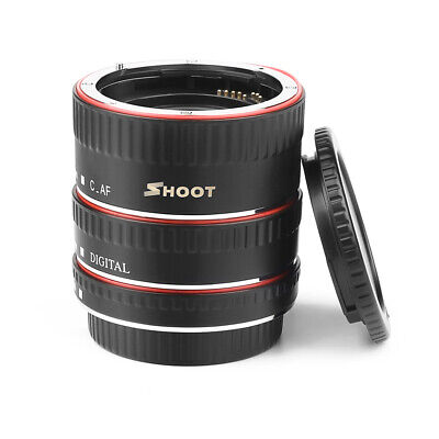 SHOOT Macro Extension Tube Ring Auto Focus AF for Canon EOS EF EF-S Lens B4V8