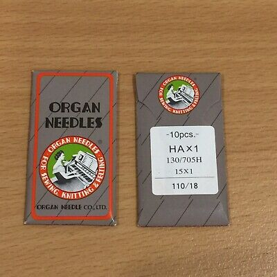ORGAN UNIVERSAL SEWING MACHINE NEEDLES 110/18 10 Pcs