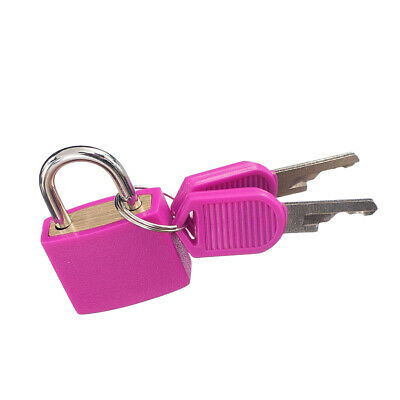 22mm Small Padlock with Two Keys Safety Locks for Luggage Suitcase- Rose Red
