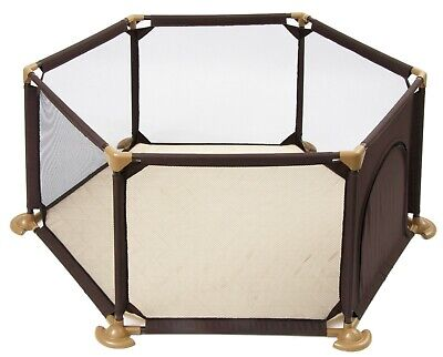 Bebe Style Pop & Play Fabric Playpen Safety Gate+Door Play Pen for Kids Toddlers