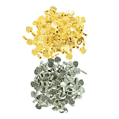 200pcs Antique Heart Glue on Bail Earring Bails DIY Jewelry Charms Pendant