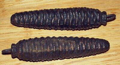 2 Older Pine Cone Weights for Cuckoo Clocks Marked With a 4