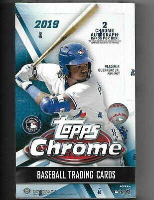 2019 Topps Chrome Baseball Factory Sealed Unopened Hobby Box ~ 24 Packs