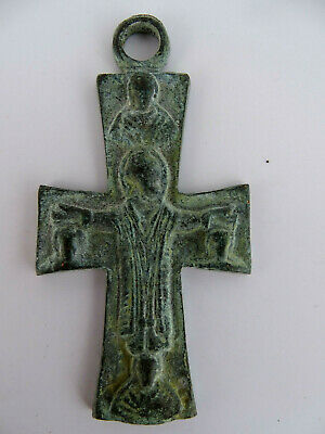 Authentic Antique Byzantine Bronze Cross circa 9th -12th century CRV017