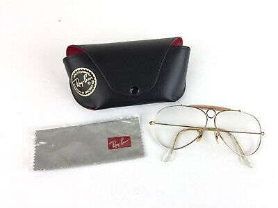 VTG Ray-Ban Bullet Hole Aviator Shooter Gold Frame Glasses 58mm