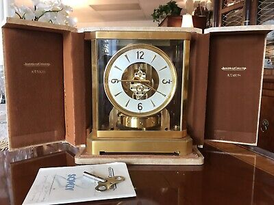 RARE 1952 Atmos II Jaeger-LeCoultre Clock with Original Manual, Tag, And Case