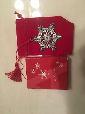 Avon 2017 Snowflake Pewter Ornament New In Box Free Shipping