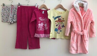 Girls Nightwear Bundle 4-5 Hello Kitty Peppa Pig YD <D7454