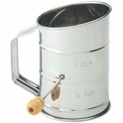 Mrs. Anderson&39s Baking Hand Crank Flour Icing Sugar Sifter, Stainless Steel,