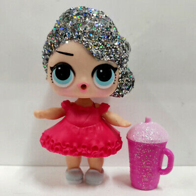 lol doll Big Sister Glitter Wave Silver Hair DIY Red Dress Kids Birthday Gift