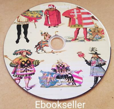 British heraldry history converted to 46 kindle, epub & Pdf ebooks on to a disc