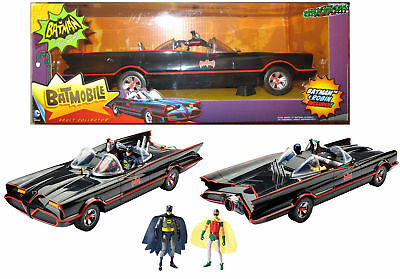 "1966 BATMOBILE 1:18 Batman Classic TV Series EXCL w/ 6"" Figures West Ward Robin*"
